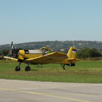 M-18 Dromader napłycie lotniska wPortoroz (LJPZ)