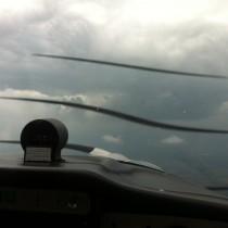 Widoki podczas lotu nie zawsze są piękne ale za każdym razem wciągające.