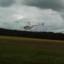 Robinson R-44, lotnisko Heringsdorf, EDAH