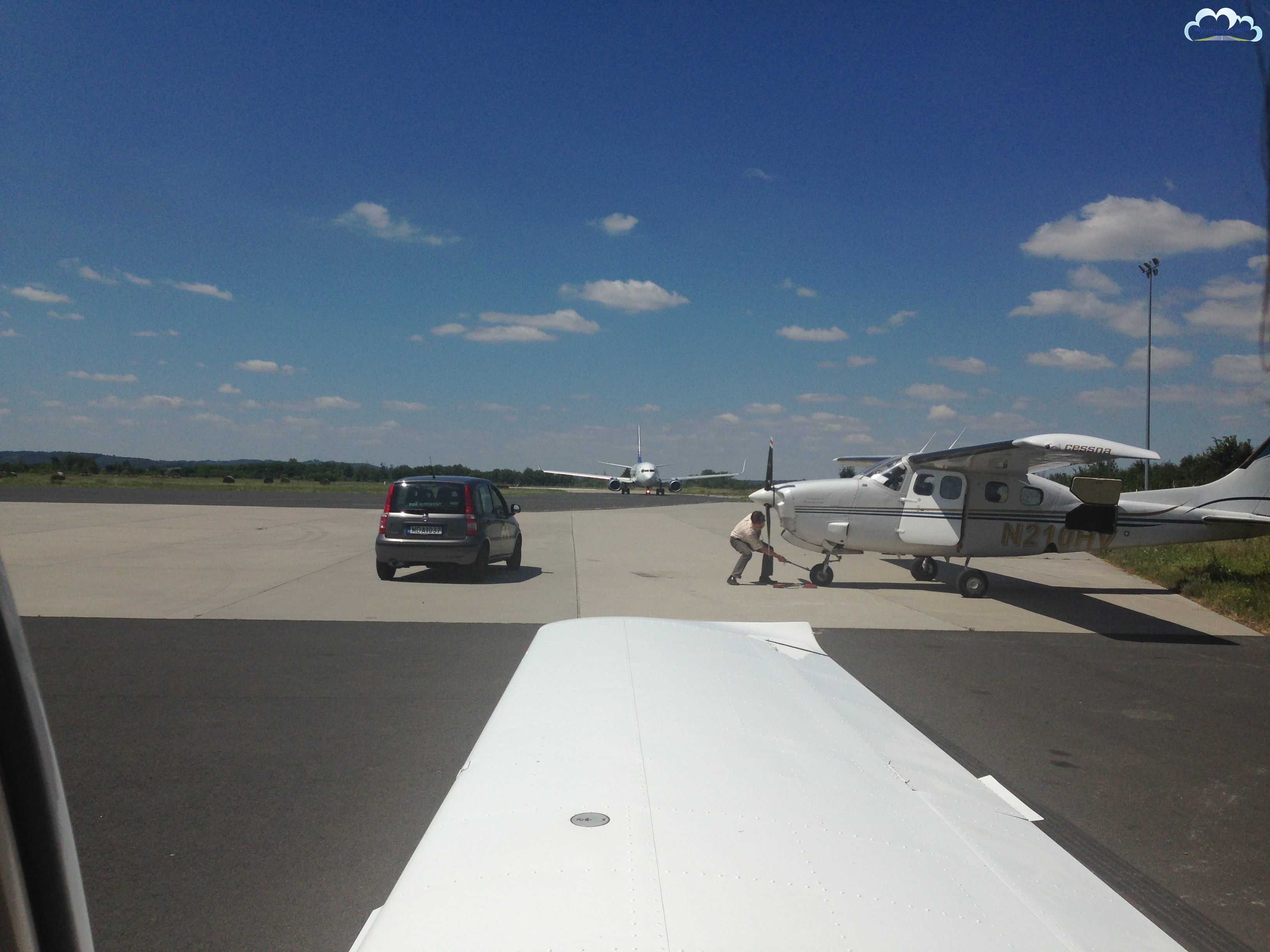 Płyta lotniska Heviz-Balaton.
