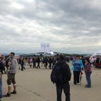 Antonov An-124 Rusłan - największy samolot, azarazem punkt orientacyjny wystawy