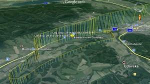 Zniżanie ipodejście LZKC - Google Earth