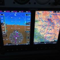 Wolno, ale dzielnie Maluszek wynosi nas na FL115, później się rozpędziliśmy do ponad 100KTAS.