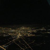 Poznań nocą widziany z południa.