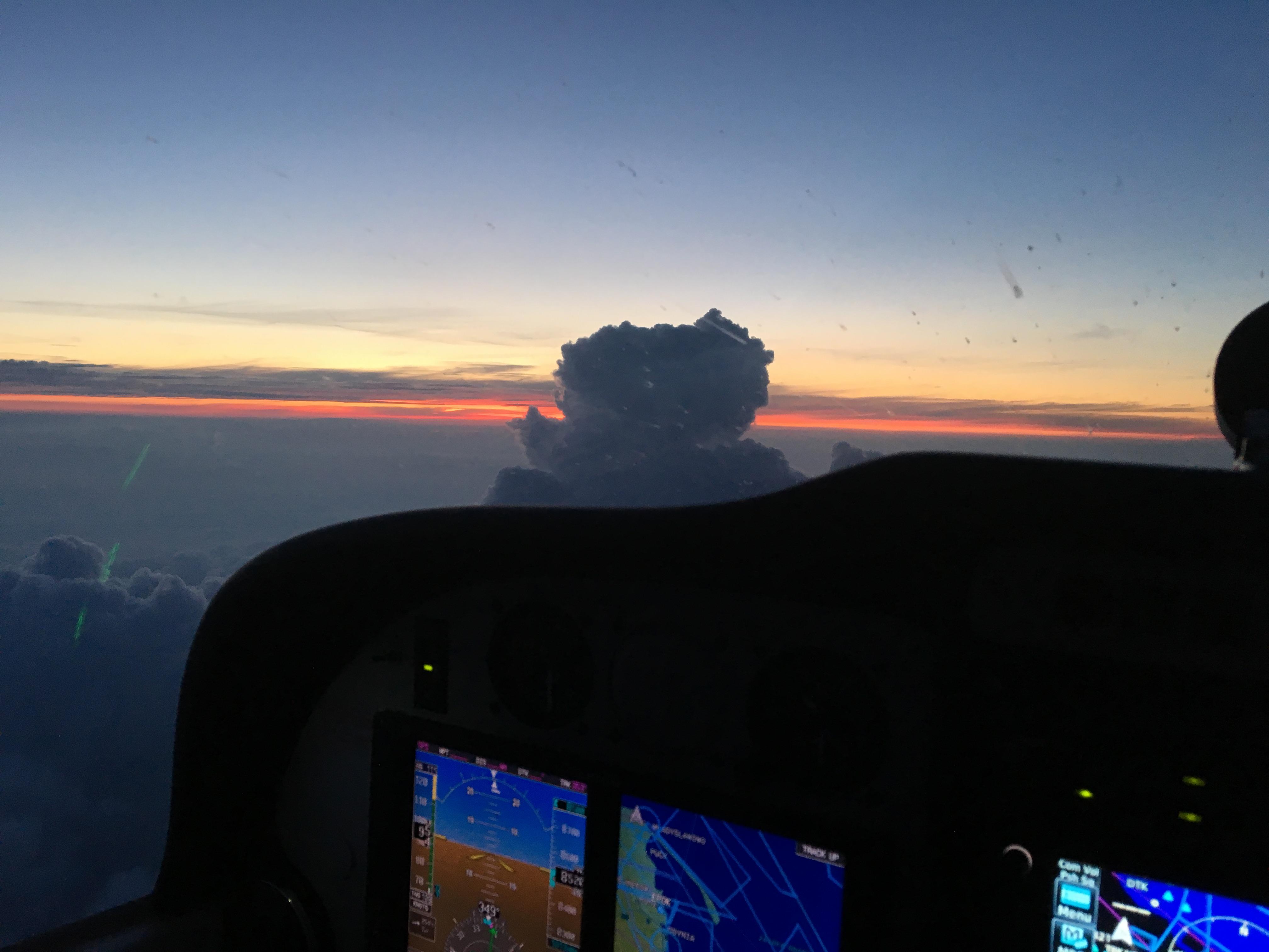 Zachód Słońca w okolicy Wyspy Sobieszewskiej