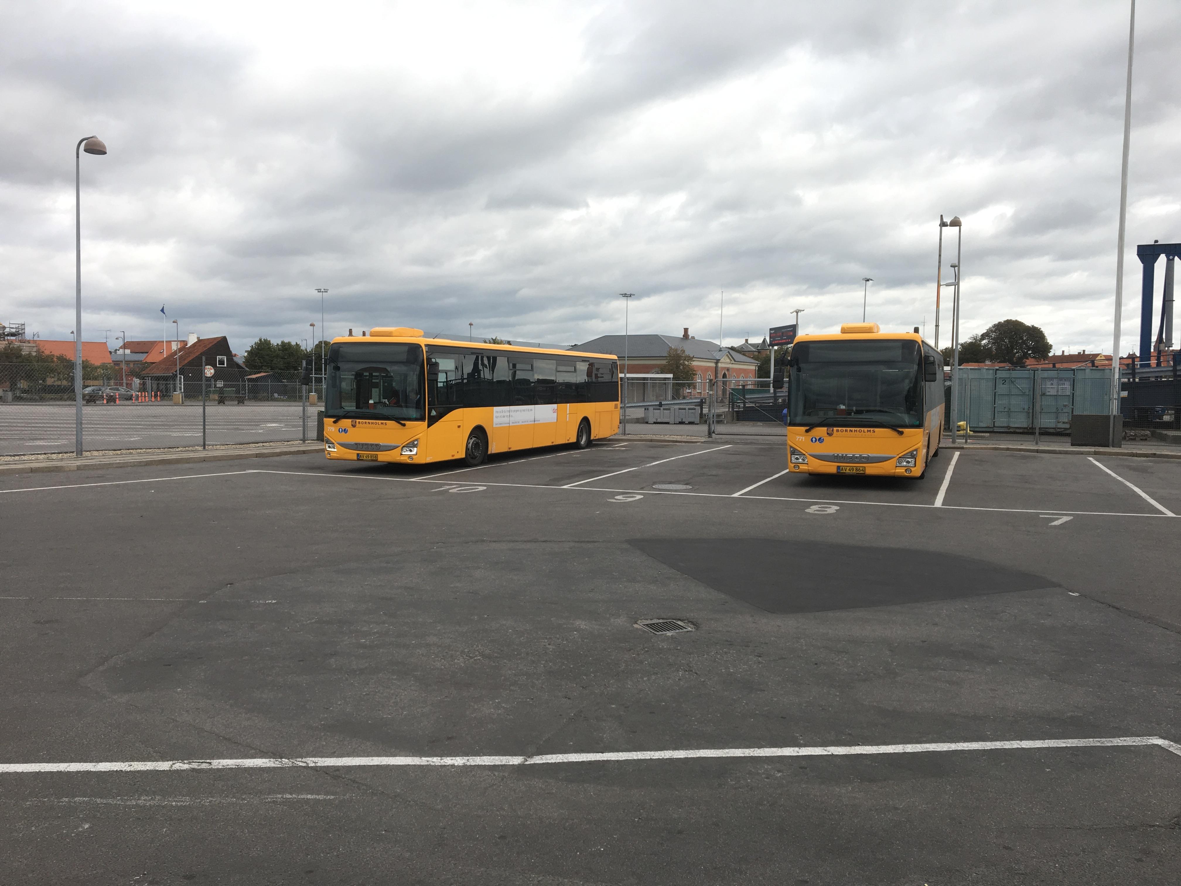 Ronne (Bornholm) - dworzec autobusowy przy terminalu promowym