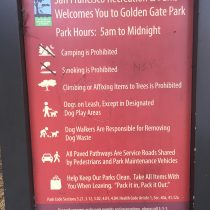 Golden Gate Park, regulamin