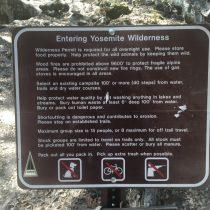 Yosemite Falls - regulamin szlaku