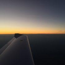 Granicę przekraczamy wpunkcie TOMTI obserwując zachód Słońca.