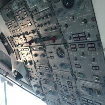 Saab 340 - Overhead panel, czyli obsługa większości systemów samolotu. Już pochwili staje się bardzo intuicyjny.