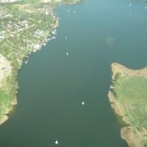 Żaglówki na jeziorze Kierskim
