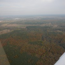 Krótko po starcie z Poznania mogłem podziwiać jesienny krajobraz Wielkopolski.
